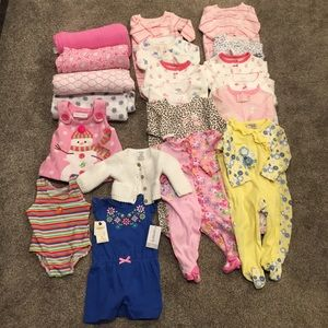 Baby Girl 20 Piece Bundle Lot NB-6 Months